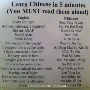 Funny Joke Picture - Learn Chinese in 5 Minutes (You must read them ...