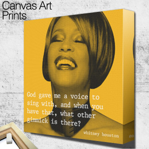 whitney houston quote 1 square wall art canvas and acrylic wall art