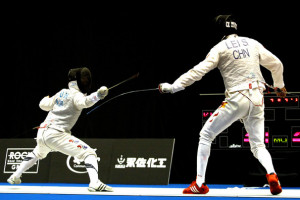 Lei Sheng Heo Jun of South Koreapetes againsti Lei Sheng of China