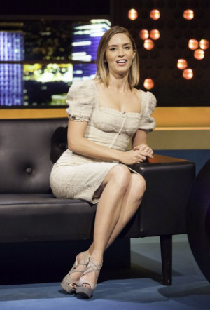 ... how ravishing and beautiful Emily Blunt looks in a puff-sleeved dress
