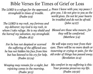 Bible Verses For Times Of Grief Or Loss…