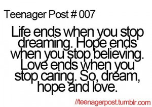Quotes, hope, love, dream, teenager