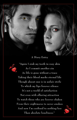Twilight Romantic Vampire Quote Poster Print
