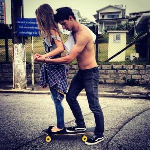 boy, couple, girl, love, skate