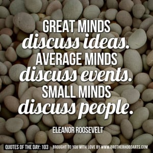 Small Minds Quotes