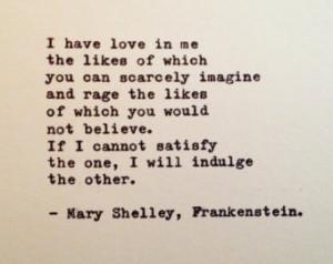 mary shelley frankenstein quotes Frankenstein Quotes