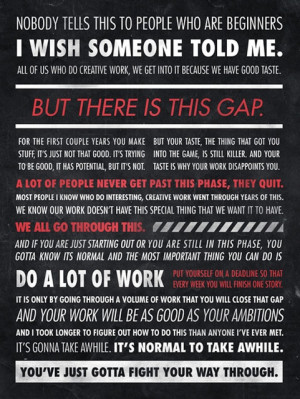 advice for every single graphic designer out there. so valid.
