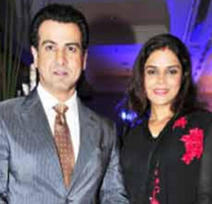Ronit Roy with wife at 39 56th Idea Filmfare 39 awards nominations ...
