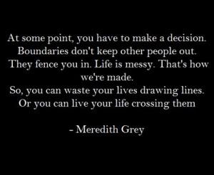 Meredith Grey, Grey Anatomy Quotes Meredith, Grey Anatomy Love Quotes ...