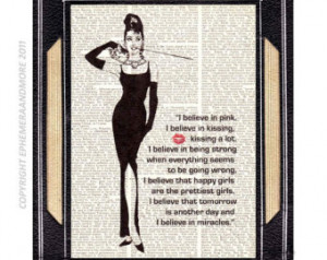 ... print i believe in pink typography quote breakfast at tiffany s movie