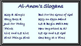 Al Anon Slogans and Sayings