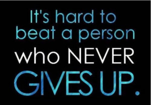 never give up quotes baseball
