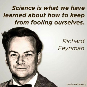 Richard Feynman quote about science