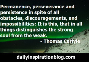 Thomas Carlyle quotes persistance quotes