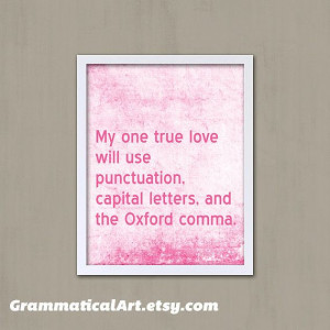 Yes, I am a fan of punctuation, correct grammar, and the Oxford comma.