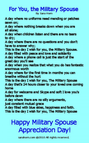 Military Spouse Appreciation Day - May 11th
