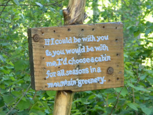 ... do enjoy putting quotes in the garden. Which is your favorite