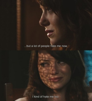 easy a, emma stone, quote, text