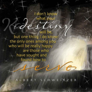 Albert Schweitzer quote about service