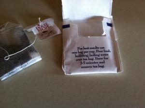 Tea bag making for best result!