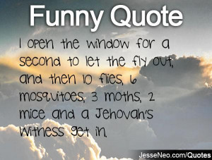 open the window for a second to let the fly out, and then 10 flies ...