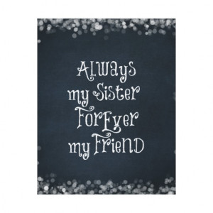Sister Quote Canvas Prints
