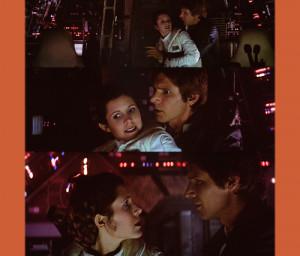 aperfectline:Princess Leia: Let go.Han Solo: Shh. Princess Leia: Let ...