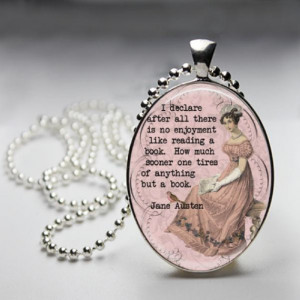 Jane Austen Necklace - Reading Quote - Pride and Prejudice - Literary ...