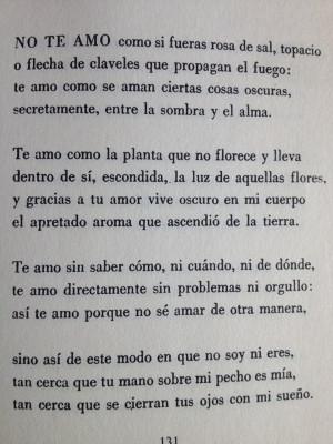 Pablo Neruda Te Amo Poema