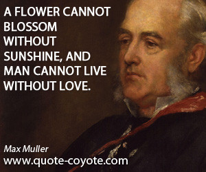 Man quotes - A flower cannot blossom without sunshine, and man cannot ...