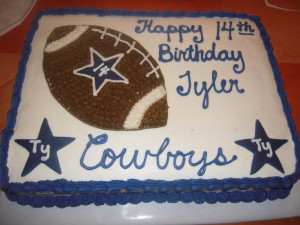 teen birthday cake | cowboys birthday cake dallas cowboy themed cake ...