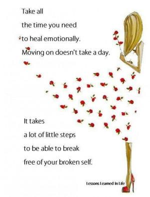 Healing takes time.