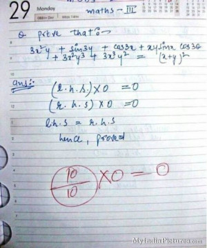 Funny Student Math Exam Test Answers