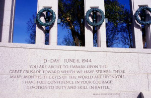 Gen. Eisenhower's D-Day quote engraved in the WWll Memorial granite ...