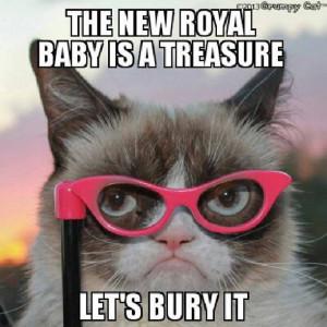 The Royal Baby is a Treasure - Grumpy Cat Fanart