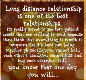 ... ...Only Hopeless Romantics Believe Long Distance Could Work