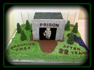 funny cake a customer wanted for her husband retiring as a prison ...