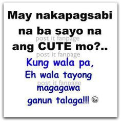 funny tagalog quotes | Image credit to Post it fanpage on facebook ...