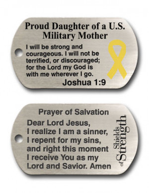 proud daughter dog tag chain necklace