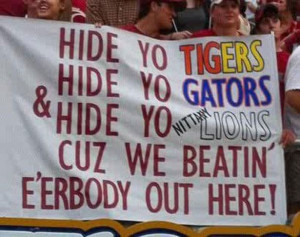Funny Alabama Football | Best College Football Fan Sign Ever - Alabama ...