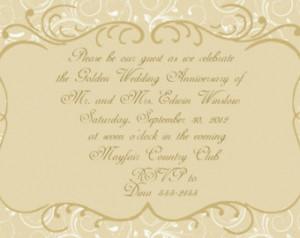Popular items for gold wedding invite