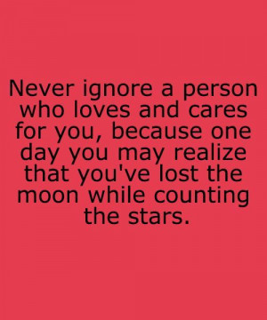 Moon and stars quote love