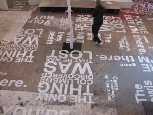 Fun floor quotes from books, or authors, or about reading/imagination ...