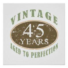 45th Birthday Themes   Funny 45th Birthday Art, Funny 45th Birthday ...