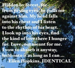 The Ellen Hopkins Quote of the Day is from IDENTICAL