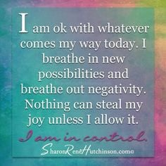 Don't let anyone our anything steal your joy. More