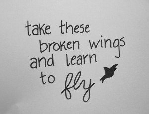 broken wings quote for tattoo