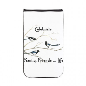 ... Qu Tablet Cases > Celebrate Family Friends Life Quote Magpie Birds K