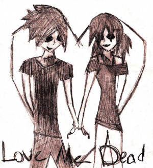 Quotes Pictures List: Emo Couple Drawings