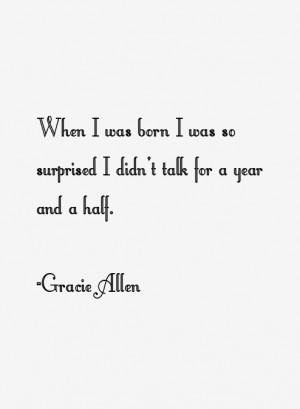 Gracie Allen Quotes amp Sayings